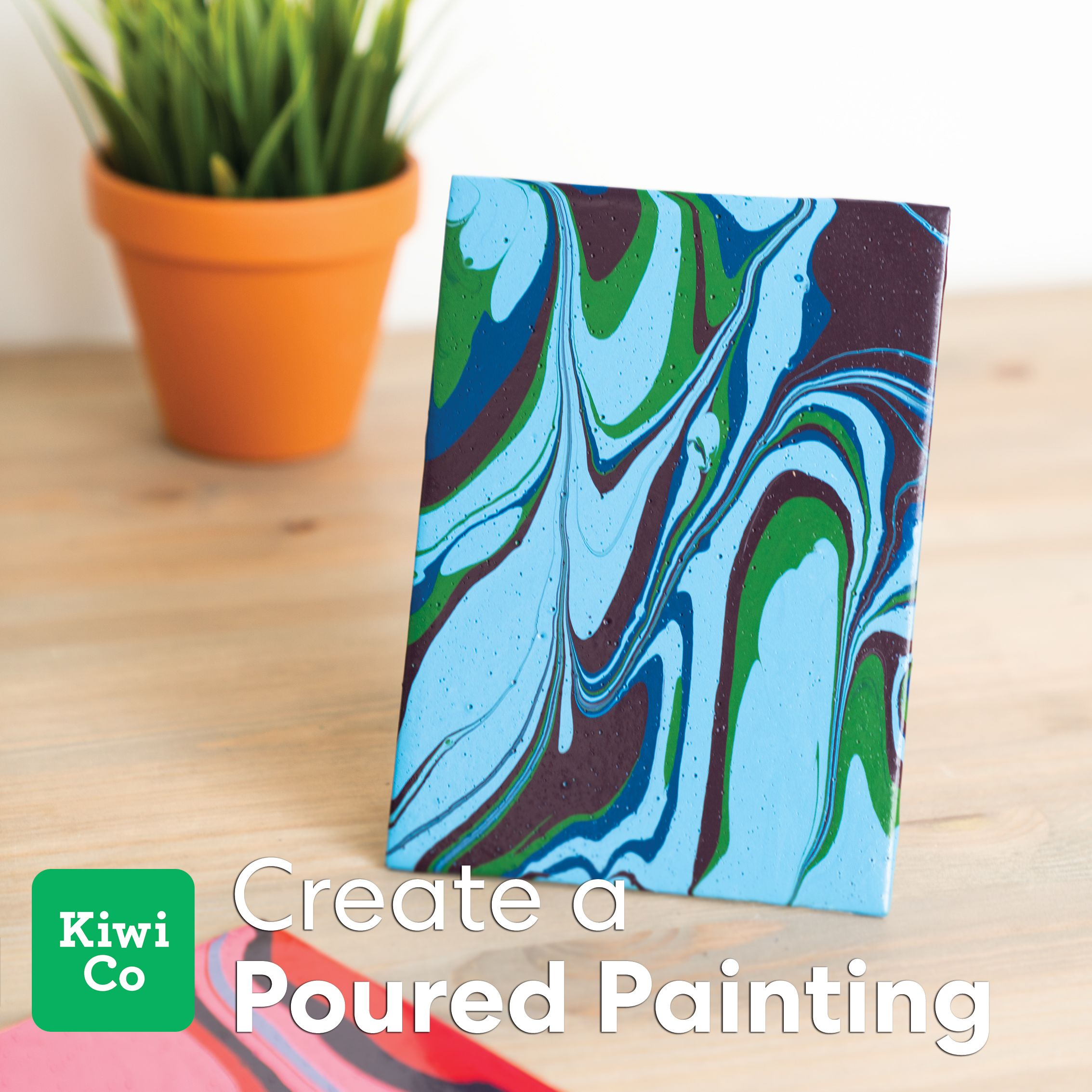 Poured Paintings from Doodle Crate