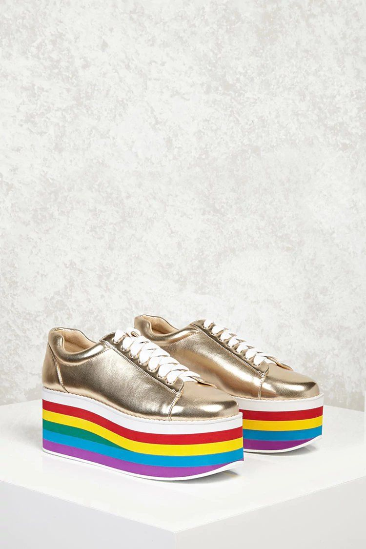 4462ea5cf3 Product Name:Platform Metallic Sneakers, Category:Shoes, Price:34.9. Find  this Pin and more on forever 21 ...