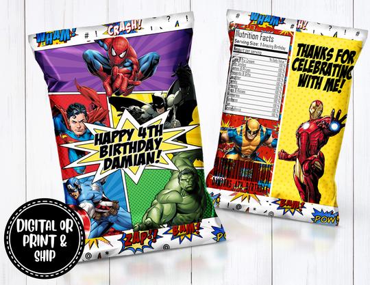 Printable DIGITAL Saints  Chip Bags Digital Download Party Favors PDF