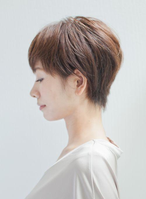 大人女性のコンパクトショートスタイル 髪型ショートヘア ヘアカット ショートカット 40代 ショートカット