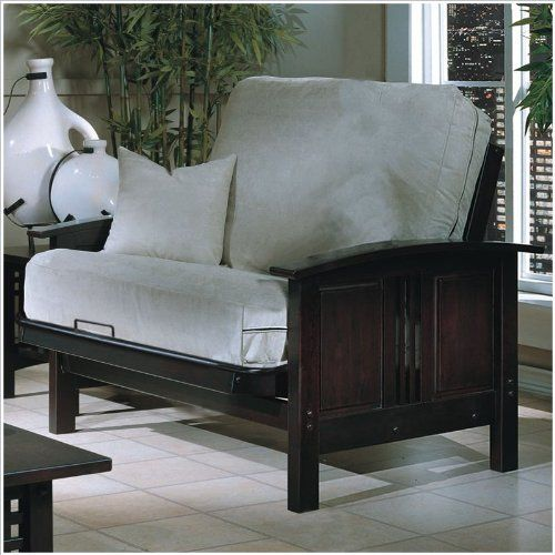 Elite Products Hermosa Junior Twin Wood Futon Chair Frame And Ottoman By 328 95