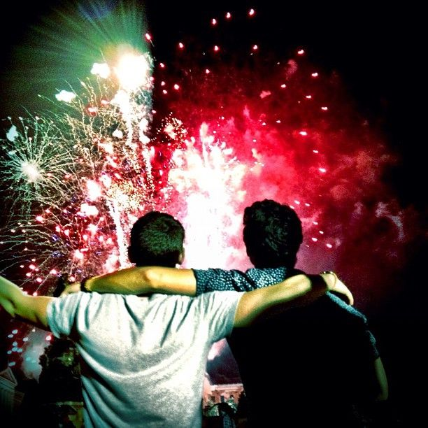 Happy 4th! With my bro @nickjonas having a great time - @adamjosephj- #webstagram