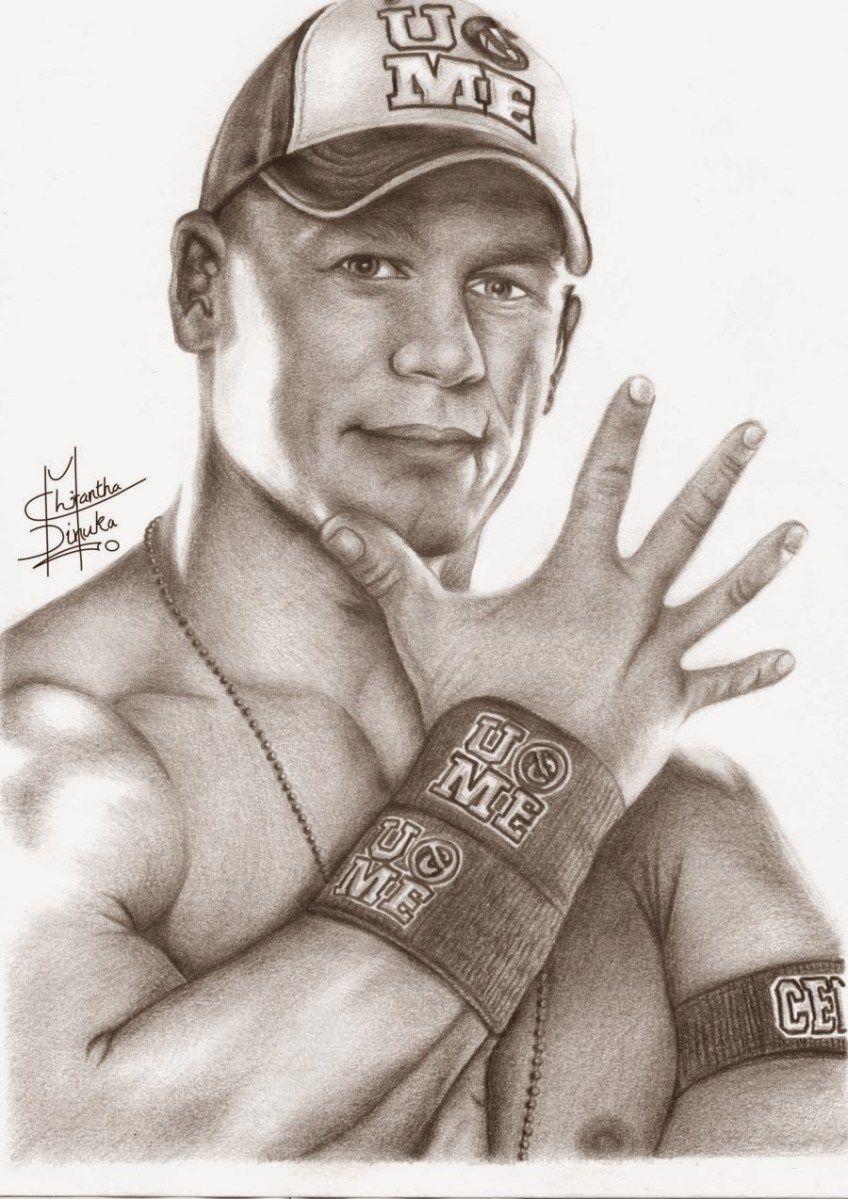 John Cena Pencil Art Hd Image Com Imagens Desenhos