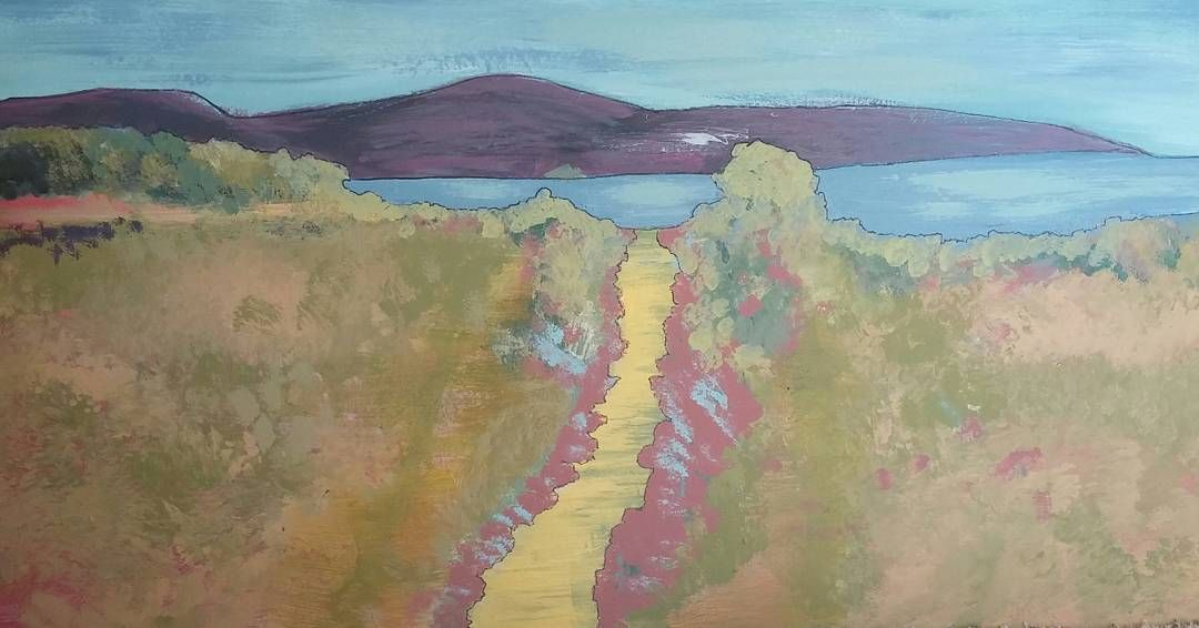 """Finally done. My #Hockney inspired landscape."""