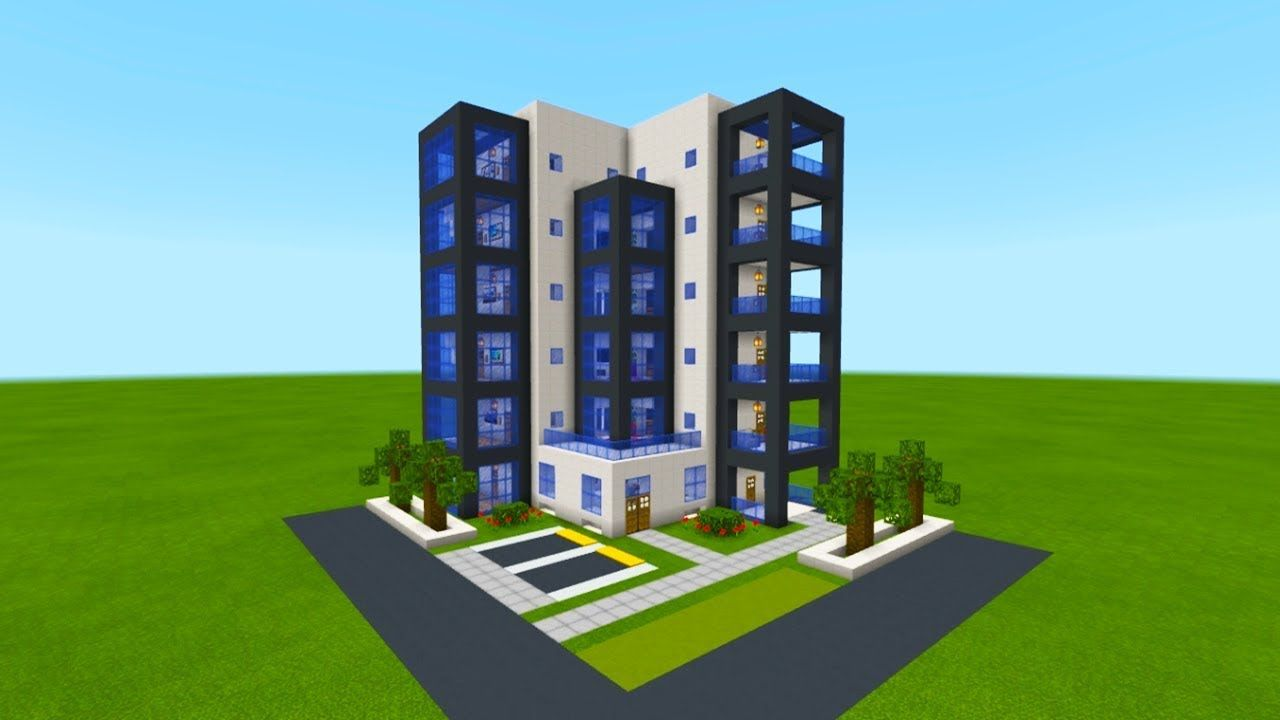 Minecraft Tutorial How To Make A Modern Hotel