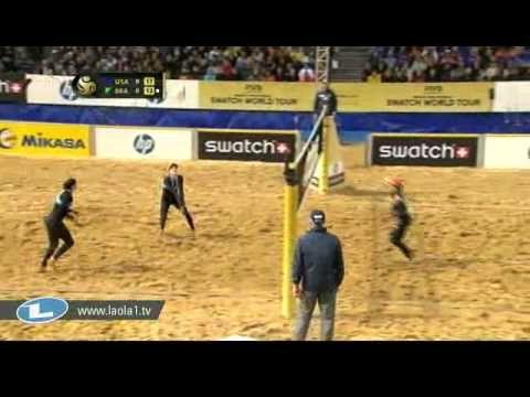 May Treanor Walsh Usa 3 Larissa Juliana Bra 1 Main Draw Final Hague Hp Beach Open 2011 Women Volleyball Gifs Beach Larissa
