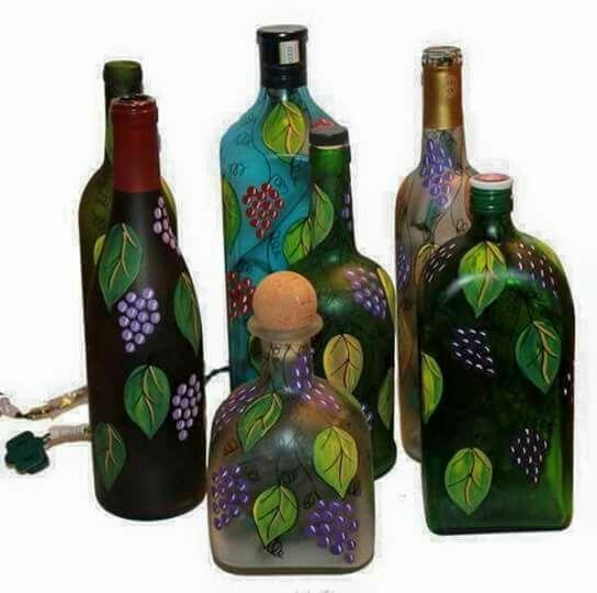 Botellas decoradas Trabajos Manuales Pinterest