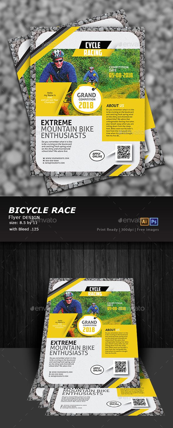 bicycle racing flyer flyers print templates download here