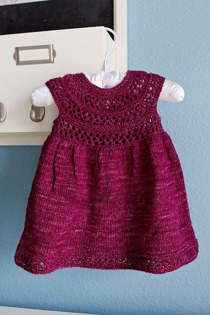 Mischa Baby Dress pattern by Taiga Hilliard Designs | Knit ...