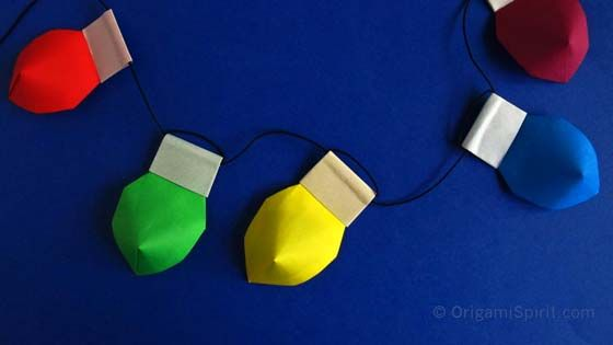 origami-Christmas-lights-OS - Origami-Christmas-lights-OS CRAFTS : PAPER ORIGAMI Pinterest