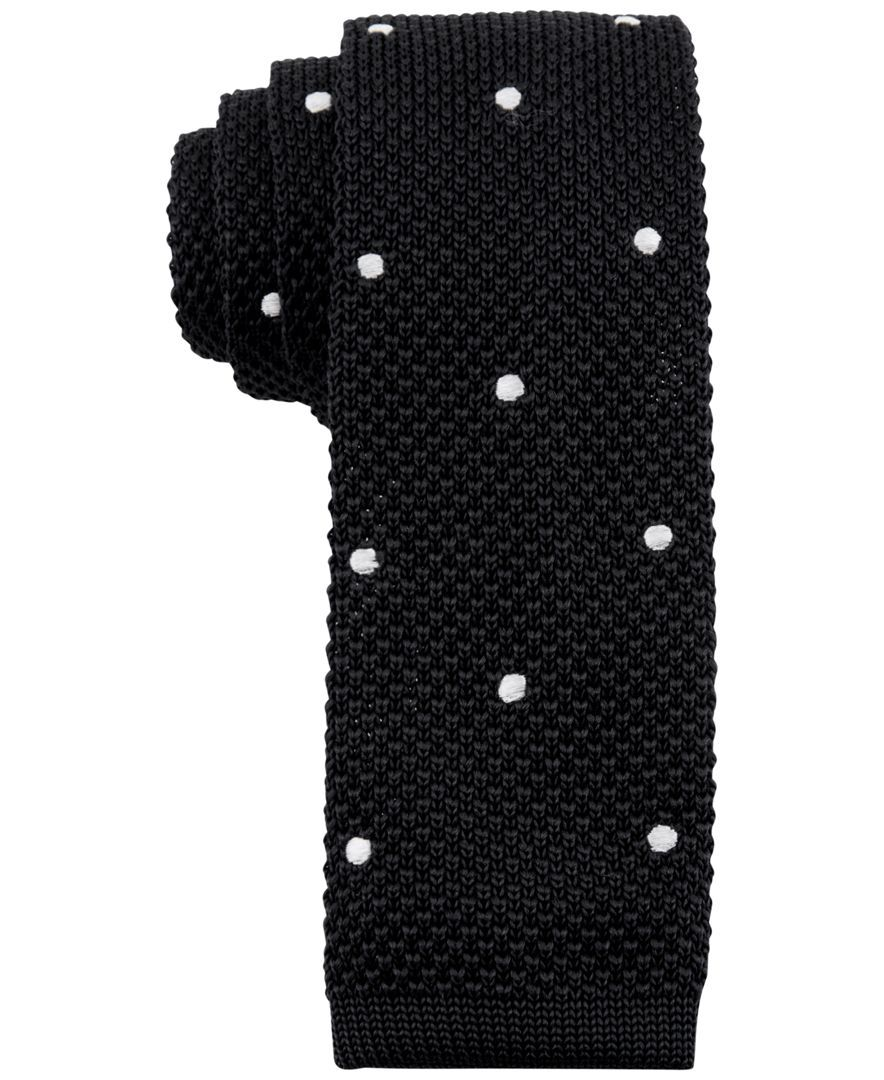 Tommy Hilfiger Men\'s Knit Woven Dot-Pattern Skinny Tie | ties ...