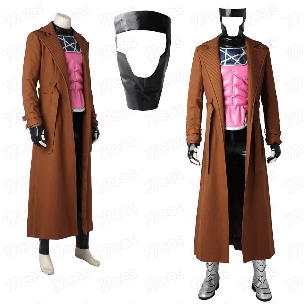 X Men Superhero Gambit Costume Remy Etienne Lebeau Cosplay Costume Super Hero Costumes Cosplay Holloween Costume