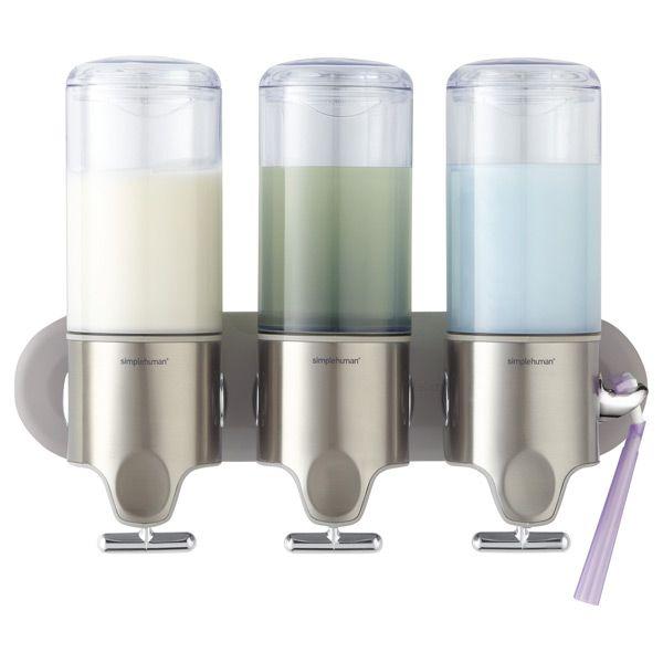 Simplehuman Wall Mounted Shampoo Soap Dispensers Simplehuman