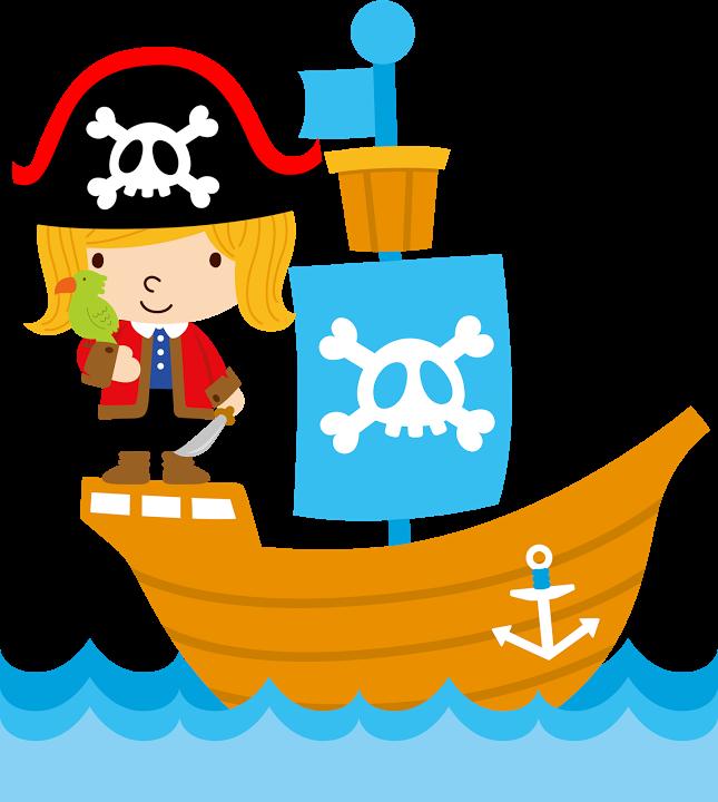 PIRATA Art for kids Pirate theme Clip art