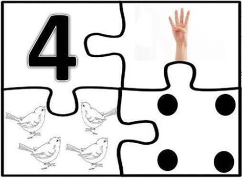 NUMERO 4   atividades inclusão   Pinterest   Zahlen, Vorschule und ...