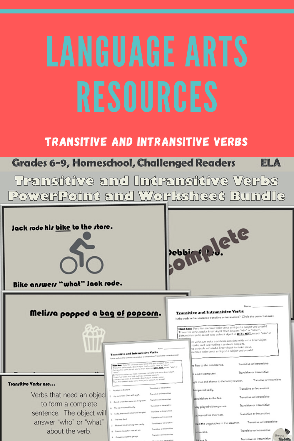 No Prep Language Art Resources Upload The Powerpoint And Print The Worksheets Verbs Powerpoint Intransitive Verb Powerpoint Lesson [ 1500 x 1000 Pixel ]