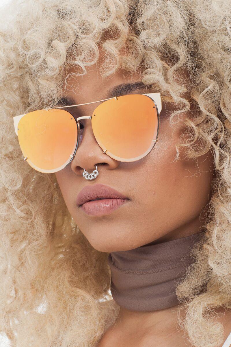 c0d042693fe Squad Mirror Sunglasses- Orange