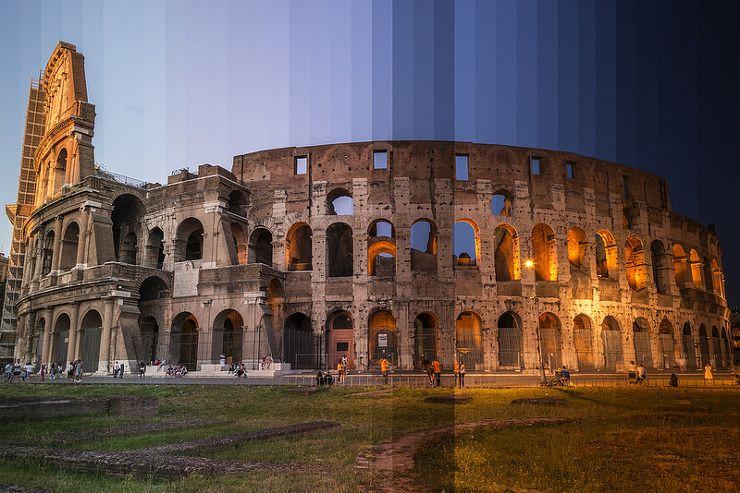 세계의 랜드마크를 시간별로 잘라서 한 장의 사진에 담은 타임 슬라이스 사진 :: 사진은 권력이다