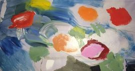 Poppies Variagated by Ivon Hitchens from Jenna Burlingham Fine Art in Kingsclere
