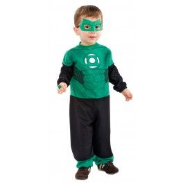 518bba4ac Adorables Disfraces para Bebes ¡Tan monos que no te resistirás! Disfraz de  Hal Jordan Linterna Verde mini para bebé