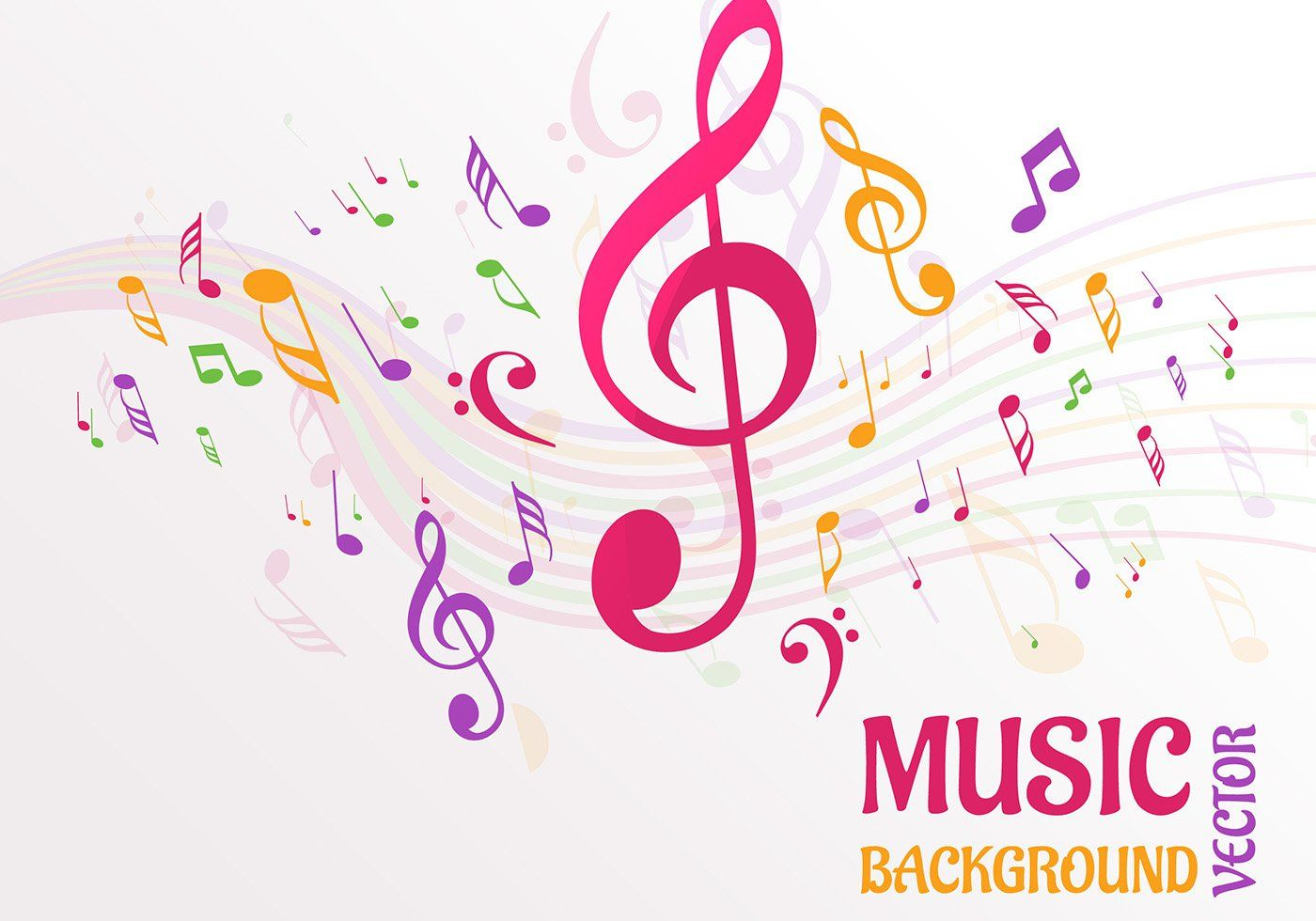 Abstract Music Notes Background Vector Music Notes Background Music Notes Free Vector Art