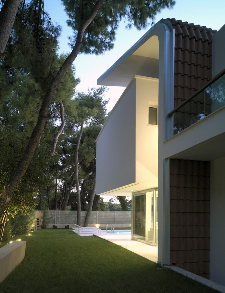 Modern greek architecture backyard garden home design  also rh pinterest