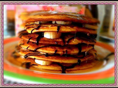 البان كيك بالموز و العسل Food Breakfast Pancakes