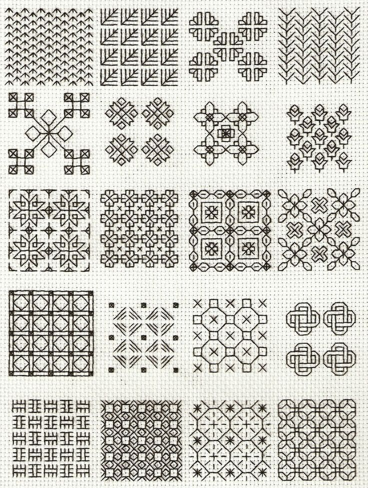 Costura Blackwork | Сашико | Pinterest | Bordado