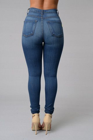 Classic High Waist Skinny Jeans - Medium Blue | fashion nova ...