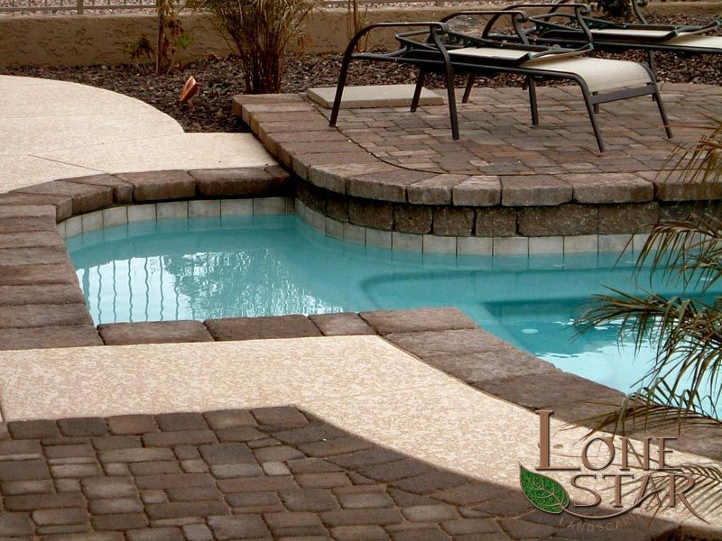 Pool Remodel Phoenix Concept Belgard Mega Bergerac Pavers As Pool Coping In Phoenix Az Www .