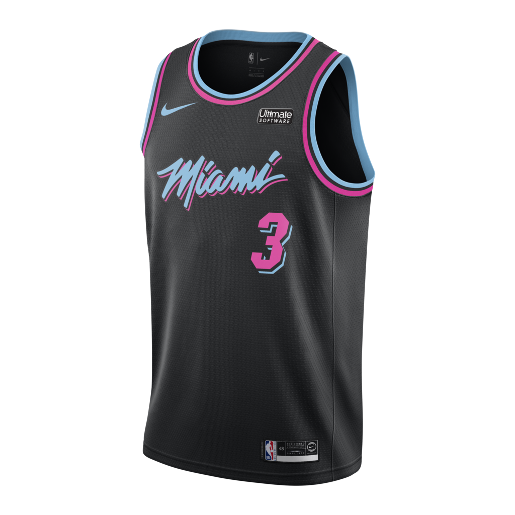 cc1c6fa6d48 Dwyane Wade Nike Miami HEAT Vice Nights City Edition Swingman Jersey -  featured image