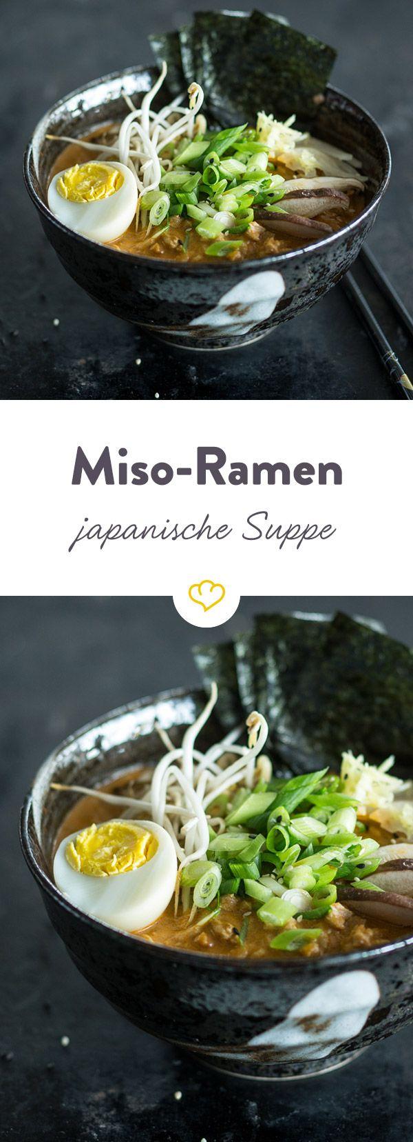 Miso-Ramen (japanische Nudelsuppe)