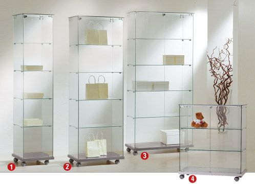 sicherheits vitrine in 4 gr en h henverstellbar vitrine pinterest vitrine glasschrank. Black Bedroom Furniture Sets. Home Design Ideas