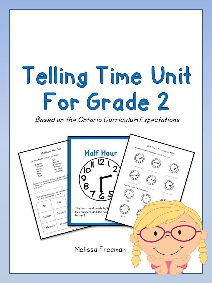 Telling Time Unit for Grade 2 (Ontario Curriculum) | Math for Second ...