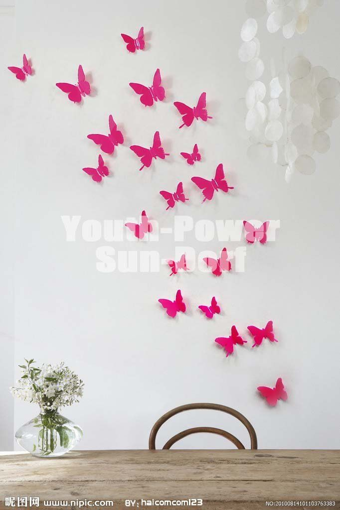 3d Wall Sticker Butterfly 30pcs Home Room Decor Decorations Pop Up Stickers S 5cm For D Butterfly Wall Decor Butterfly Wall Stickers Butterfly Wall Decor Diy