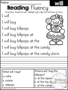 Free Reading Fluency And Comprehension Set 2 Reading Fluency