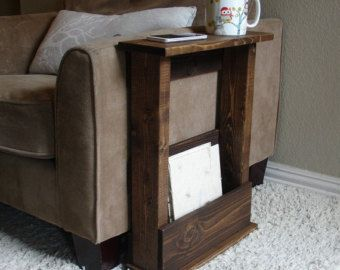 Handcrafted Tray Table Stand With Storage Pocket. The Perfect Addition To A  Sofa Chair In