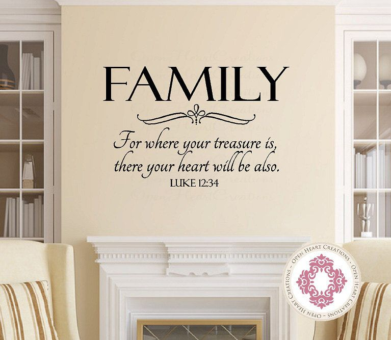 Pin By Elsy Hernandez On Home Decor Family Wall Decals Family Wall Scripture Vinyl