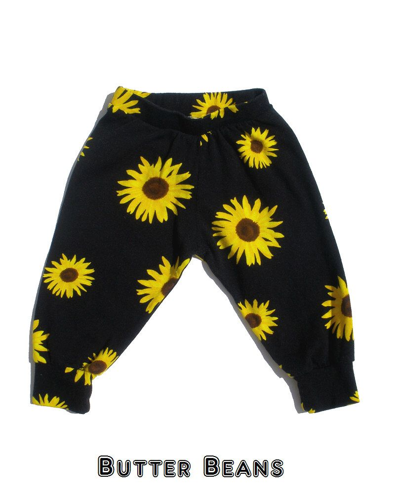 Sunflower baby pants baby girl clothesbaby boy clothesbaby
