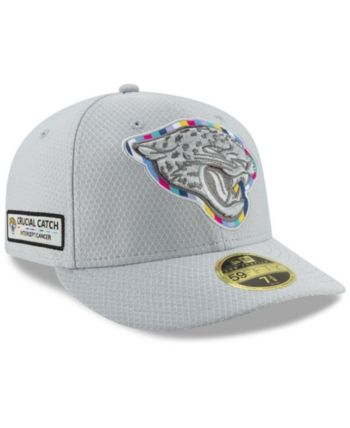 New Era Jacksonville Jaguars Crucial Catch Low Profile 59FIFTY Fitted Cap -  Gray 7 3 8 7fdbc918a04d
