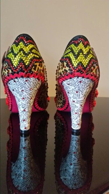 Wonder woman comic book inspired shoes created by reviveme boutique.