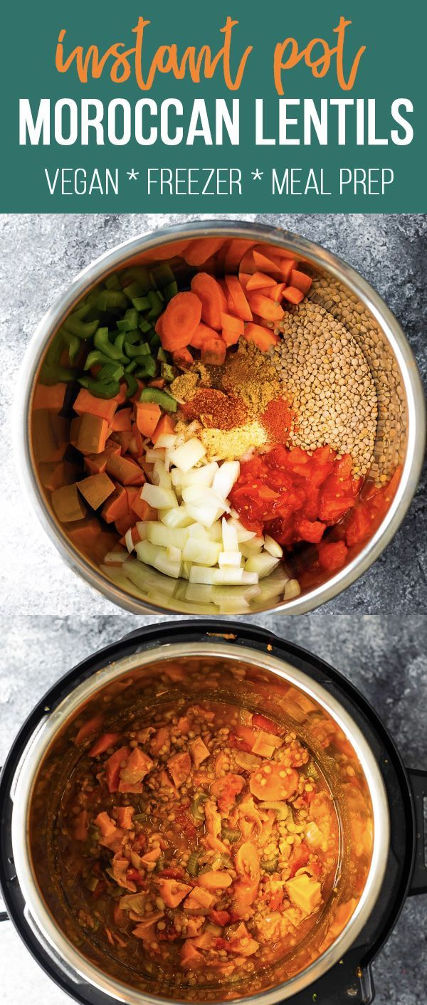 Moroccan Instant Pot Lentils