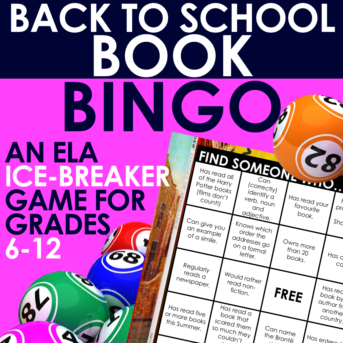 Back To School Book Bingo