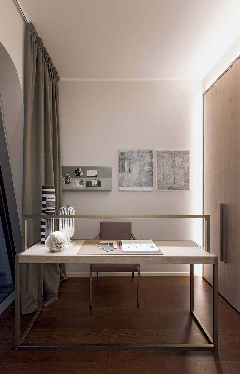 Aluminium Writing Desk Continuum By Natevofurniture Home Office  # Taz Muebles De Oficina