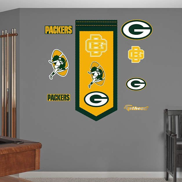 Delightful Fathead Green Bay Packers Logo Evolution Decal   Wall Sticker Outlet Part 18
