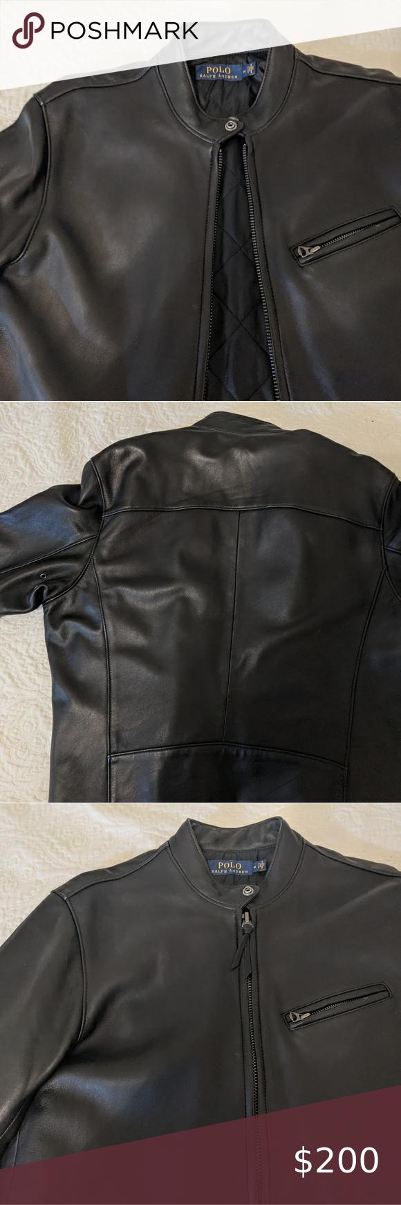 Polo Ralph Lauren Lambskin Leather Jacket M In 2020 [ 1740 x 580 Pixel ]