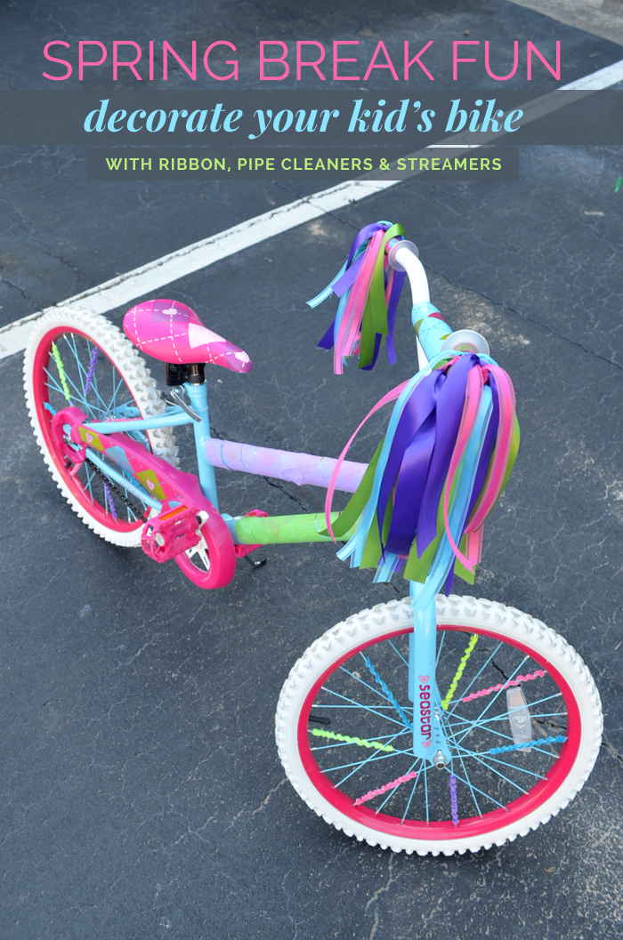 Spring Break Diy Idea Decorate Your Kid S Bike Kids Bike