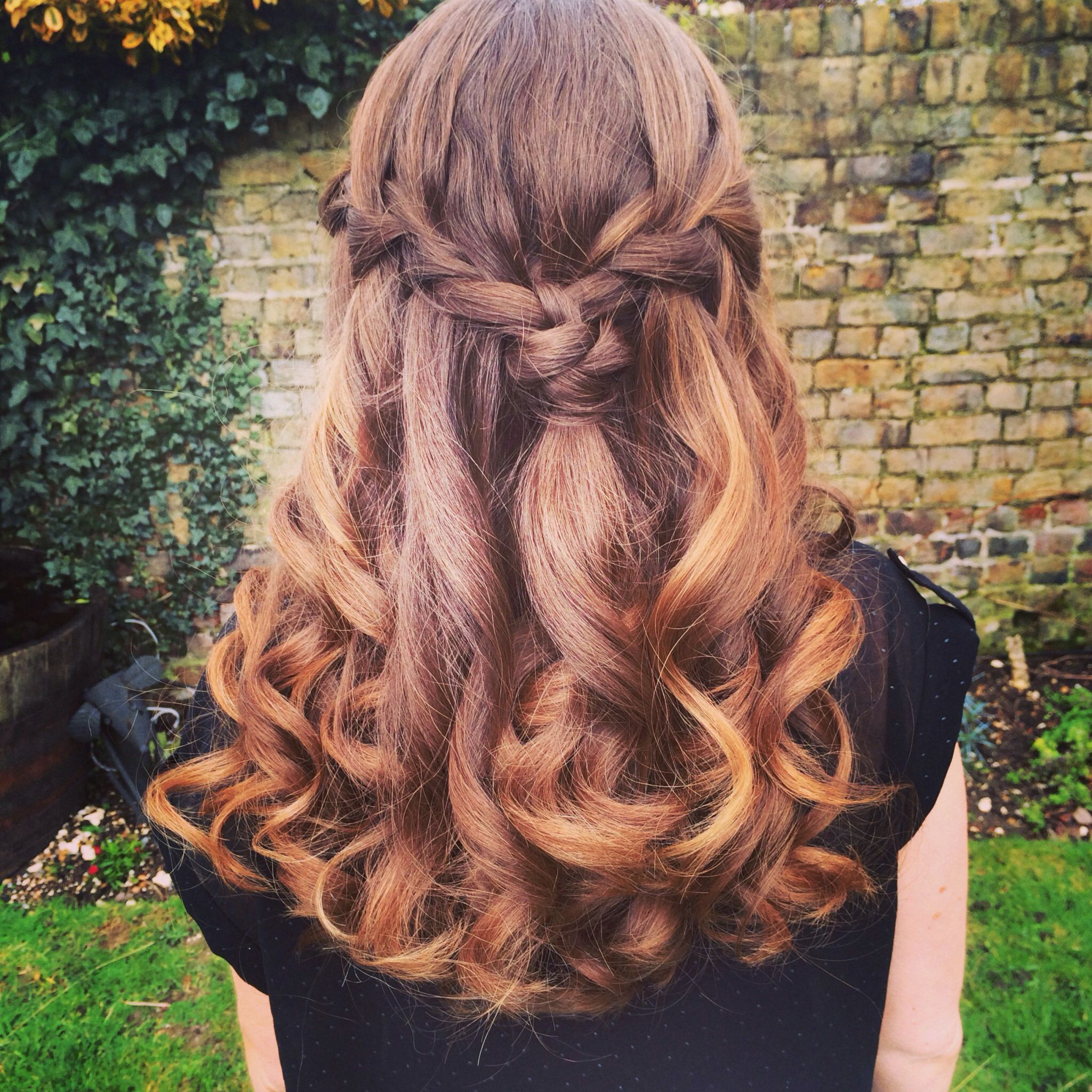Half up waterfall plait braids pinterest