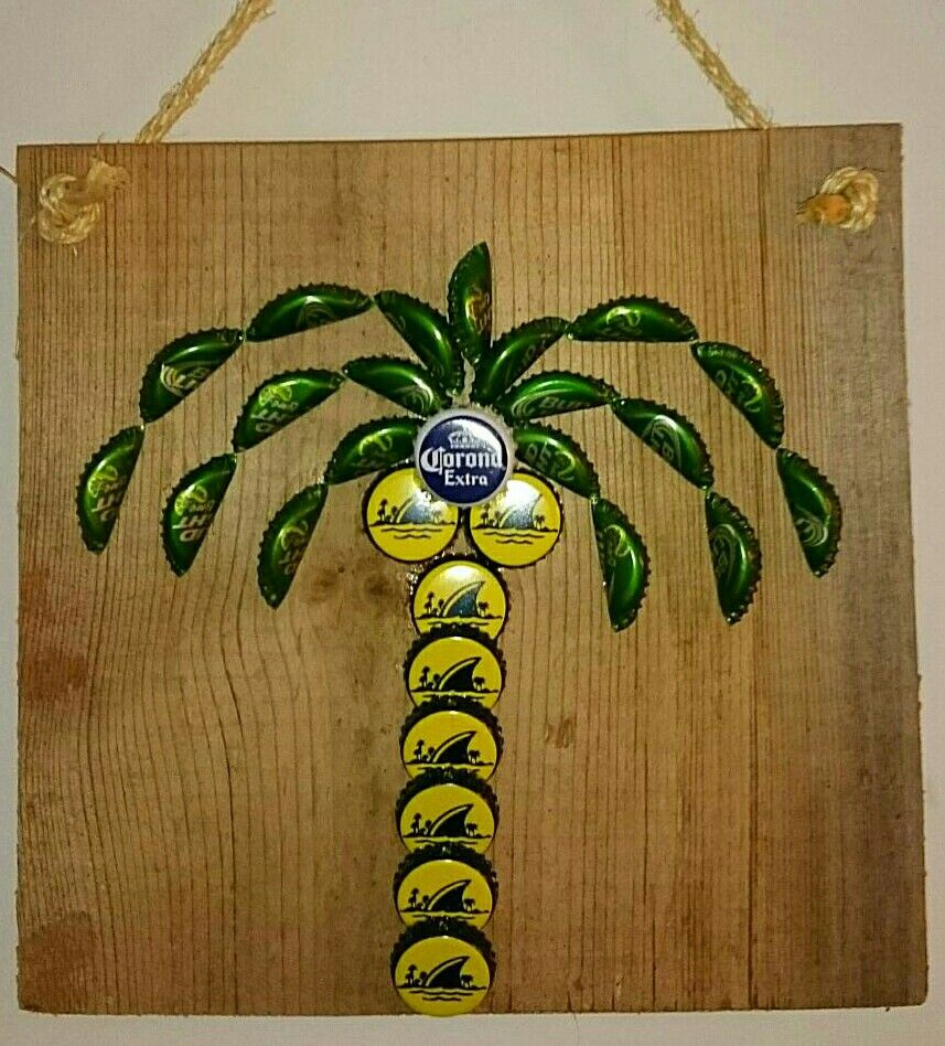 Palm Tree Bottle Cap Wall Art | CAPtivated! | Pinterest ...