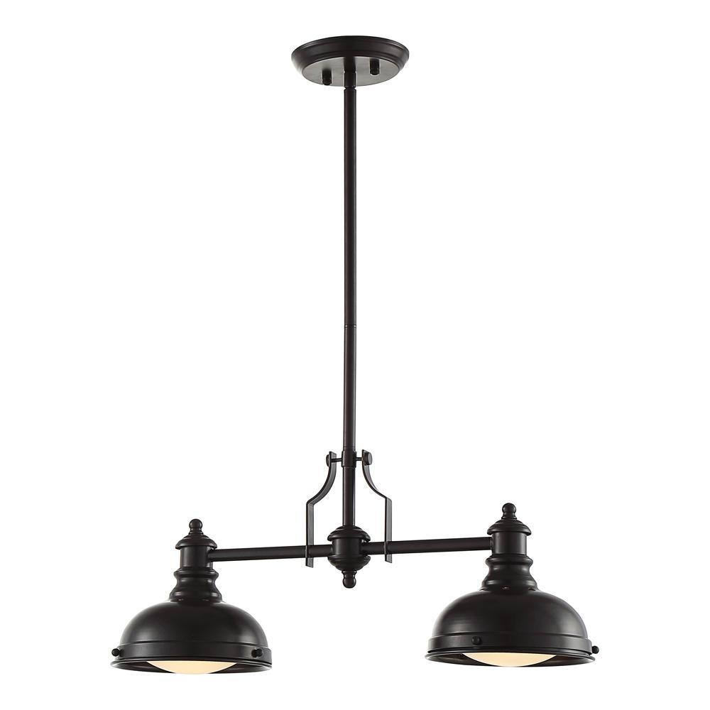 Ove Decors Bergin Ii 2 Light Oiled Bronze Pendant Bergin Ii The Home Depot Pendant Light Fixtures Light Fixtures Pendant Lighting
